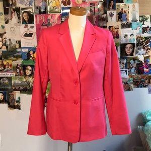 NWT Talbots coral pink double button blazer sz 8